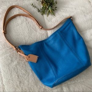 Cole Haan crossbody and shoulder bag blue leather